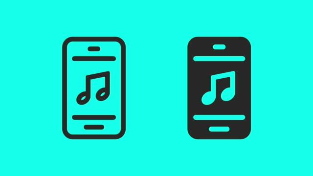 vídeos y material grabado en eventos de stock de música móvil - vector animado - estéreo personal