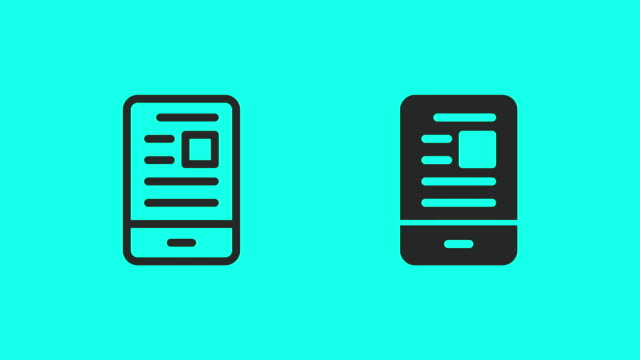 mobile news feed icons - vector animate - article stock videos & royalty-free footage