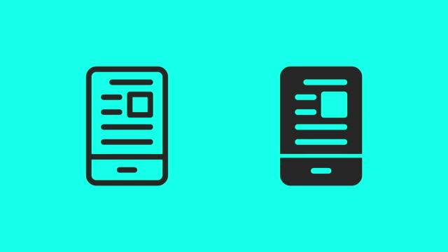 stockvideo's en b-roll-footage met mobiele nieuws feed icons - vector animatie - artikel