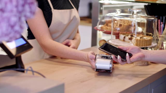 mobile payment/ debica/ poland - contactless payment stock videos & royalty-free footage