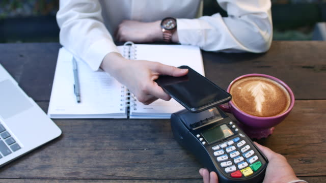 Mobile Payment in Cafe, Contactless Payment