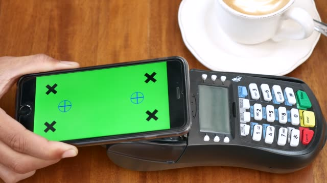 mobile payment with green screen - paying phone stock videos & royalty-free footage