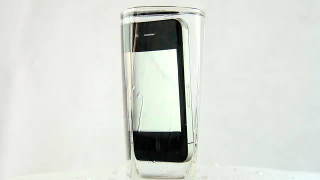Mobile Phone Drop In To Water