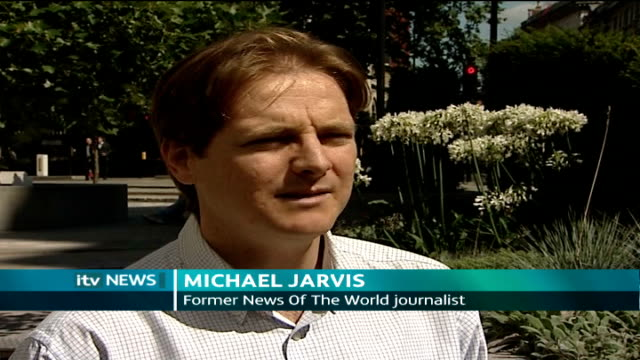 news of the world royal editor charged ext michael jarvis interview sot describes how when he was at the news of the world journalists felt they were... - 盗聴点の映像素材/bロール