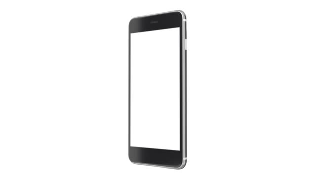 mobile phone mockup with blank white screen on white background. - single object stock videos & royalty-free footage