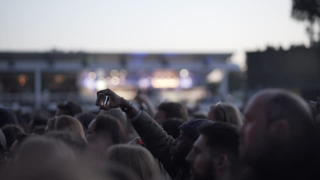 mobile phone recording at a concert