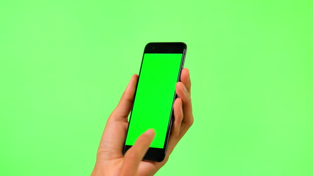 mobile phone with green screen - thumb stock videos & royalty-free footage