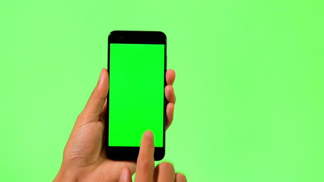 mobile phone with green screen - smart phone stock videos & royalty-free footage