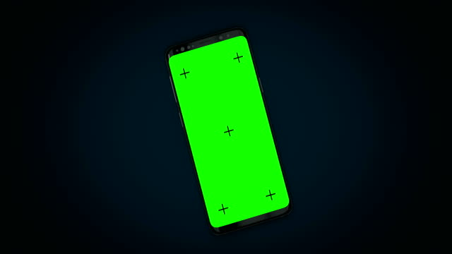 3d mobile phone  with track point and green screen - business conference stock videos & royalty-free footage
