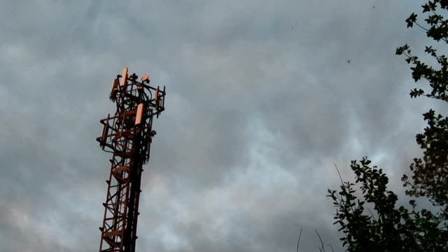mobile tower timelapse - mast stock videos & royalty-free footage
