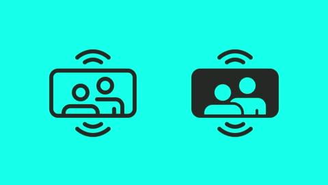 mobile videoanrufsymbole - vector animate - film camera stock-videos und b-roll-filmmaterial