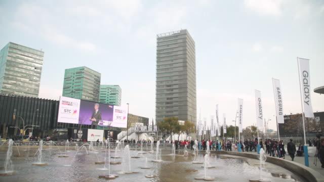 Mobile World Congress Barcelona establishing shot