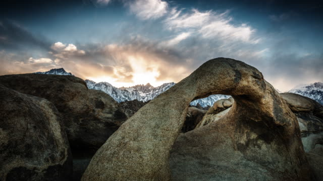 Mobis Arch at sunrise, Time Lapse