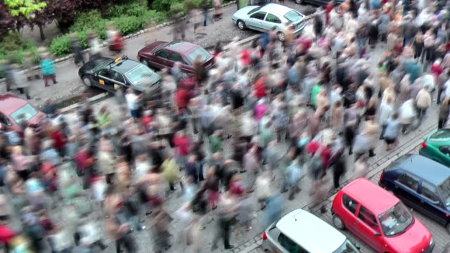 Mobs auf der Straße