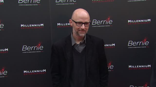 moby at bernie special los angeles screening on 4/18/12 in hollywood, ca. - モービー点の映像素材/bロール