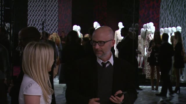 moby at diane von furstenberg's journey of a dress exhibition opening celebration in los angeles, ca 1/10/14 - モービー点の映像素材/bロール