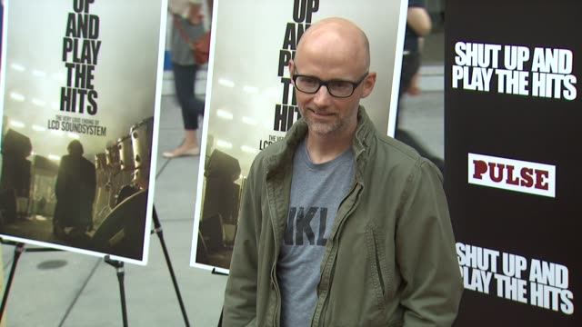 moby at shut up and play the hits los angeles premiere on 7/17/12 in hollywood, ca. - モービー点の映像素材/bロール