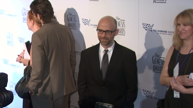 moby at the 24th genesis awards at beverly hills ca. - モービー点の映像素材/bロール
