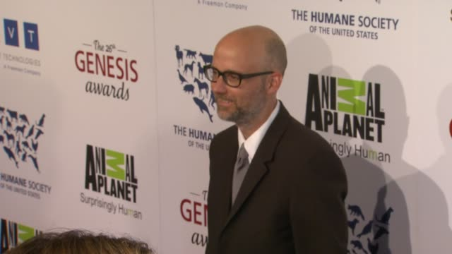 moby at the 26th annual genesis awards presented by the humane society of the united states on 3/24/12 in los angeles, ca - モービー点の映像素材/bロール