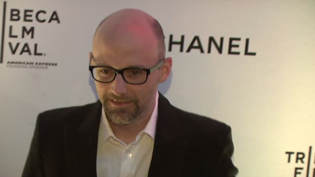 moby at the 8th annual tribeca film festival - chanel dinner at new york ny. - モービー点の映像素材/bロール