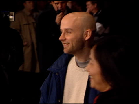 moby at the 'all access' imax premiere at universal citywalk in universal city california on february 18 2001 - 映画プレミア点の映像素材/bロール