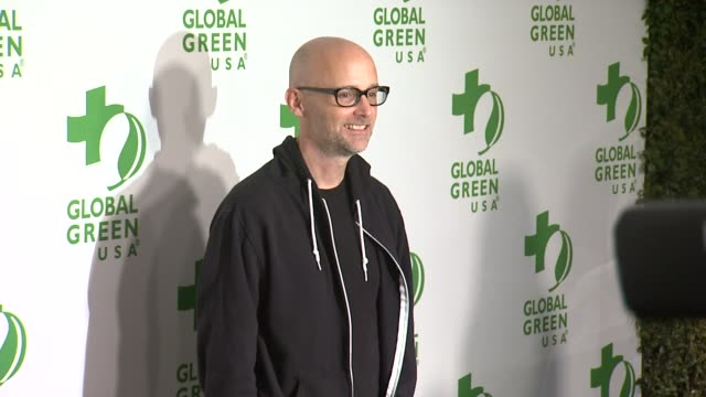 moby at the global green usa 11th annual pre-oscar® partyat avalon on february 26, 2014 in hollywood, california. - モービー点の映像素材/bロール