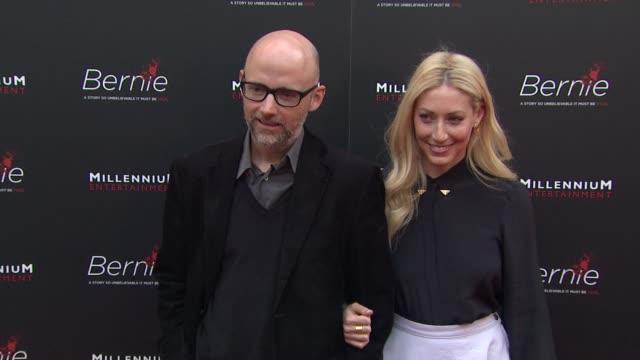 moby, julie mintz at bernie special los angeles screening on 4/18/12 in hollywood, ca. - モービー点の映像素材/bロール