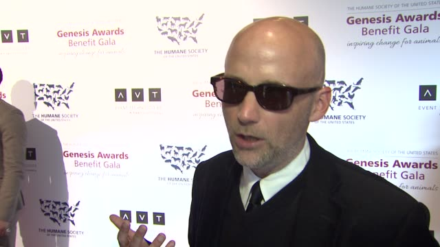 moby on the event, animal causes at 2013 genesis awards benefit gala presented by the humane society of the united states on 3/23/13 in los angeles,... - モービー点の映像素材/bロール