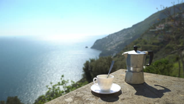 mocha coffee on the amalfi coast and sorrento peninsula - mocha stock videos and b-roll footage