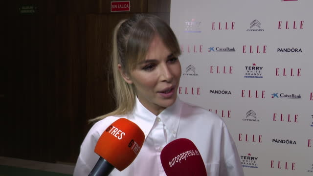 model agueda lopez attends the 'elle' women's day on march 09, 2020 in madrid, spain. - アゲダ・ロペス点の映像素材/bロール