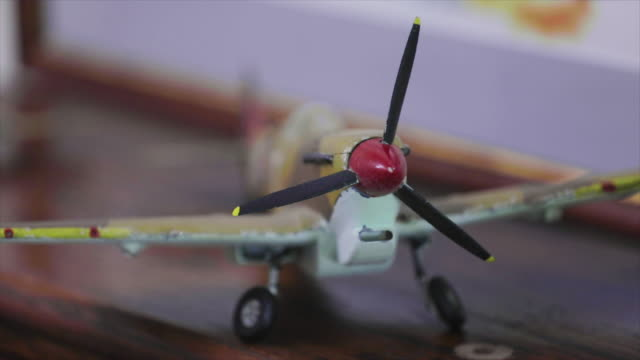 ww2 model airplanes close up focus pull - allied forces stock videos & royalty-free footage