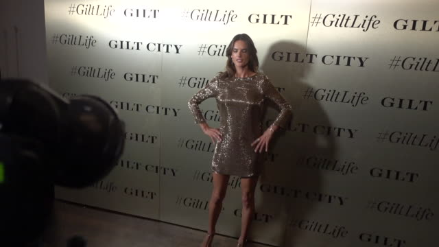 vídeos de stock, filmes e b-roll de model alessandra ambrosio attends the #giltlife launch party held at a private residence on september 27 2016 in new york city - alessandra ambrosio
