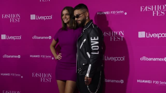 Model Barbara Palvin and singer Maluma attend the Liverpool Fashion Fest Spring/ Summer 2019 at Quarry Studios on March 28 2019 in Mexico City Mexico
