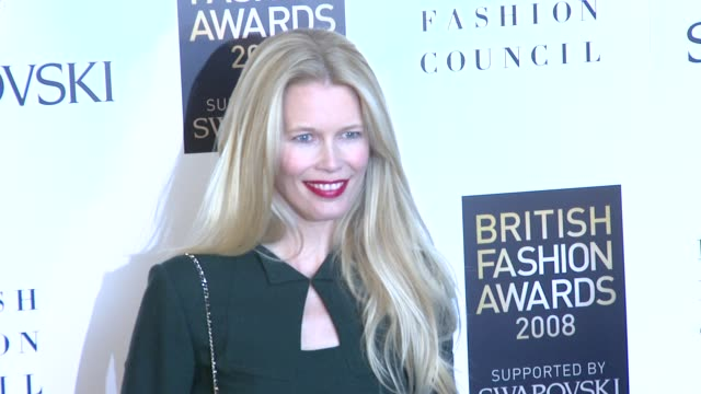 Model Claudia Schiffer at the British Fashion Awards arrivals at London