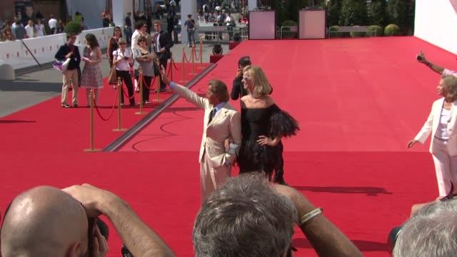 Model Eva Herzigova and Fashion Designer Valentino at the 65th Venice Film Festival Valentino The Last Emperor Red Carpet Arrivals and interviews at...