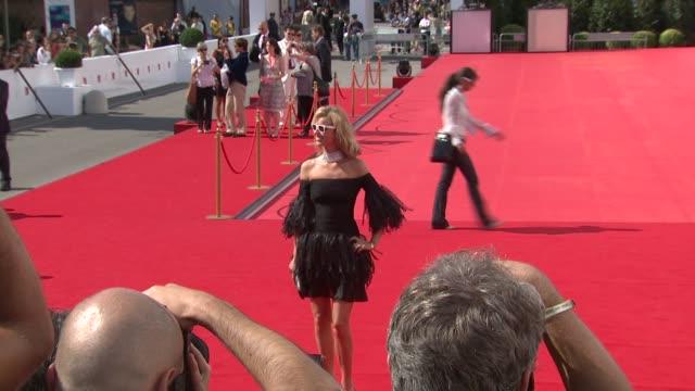 Model Eva Herzigova at the 65th Venice Film Festival Valentino The Last Emperor Red Carpet Arrivals and interviews at Venice