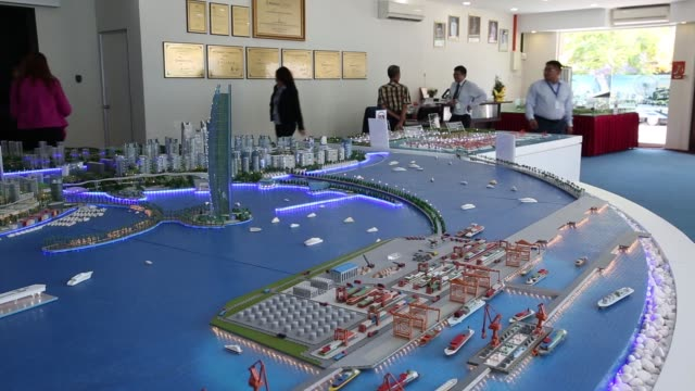 a model for the melaka gateway development managed by kal development sdn is displayed in the pulau island area of malacca city malaysia on thursday... - malacca stock videos and b-roll footage