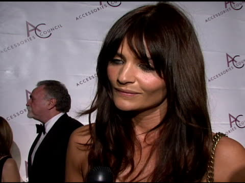 Model Helena Christensen talking about the importance of accessories and working with designers Marc Jacobs and Valentino at the 11th Annual ACE...