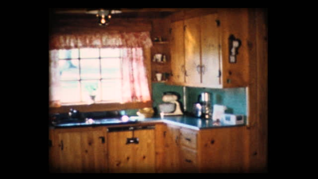 1968 model home 4 exterior and interior - cabinet stock videos & royalty-free footage