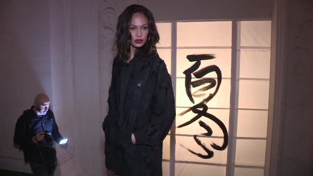 Model Joan Smalls front row for the HM Fashion Show in Paris Paris France on Wednesday February 28 2018