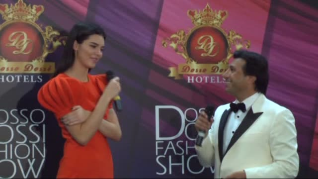 model kendall jenner holds a press conference after the 20th dosso dossi fashion show in antalya, turkey on june 09, 2015. - fashion show stock videos & royalty-free footage