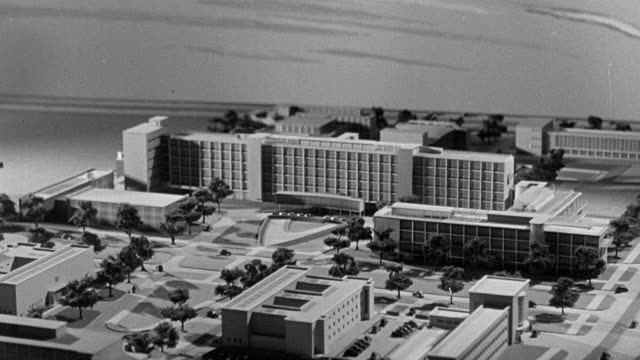 1945 b/w montage model layout of proposed structures for the rebuilding of the city / coventry, west midlands, england - coventry stock videos & royalty-free footage