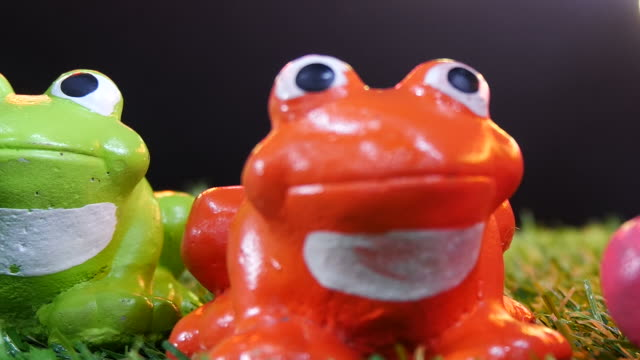 model of colorful frog - ceramics stock videos & royalty-free footage