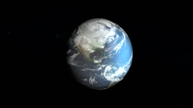 model of ice sheet on earth. nasa public domain imagery - cambiamento video stock e b–roll