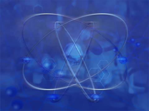 vidéos et rushes de cu cgi model of spinning atom  - nucléus