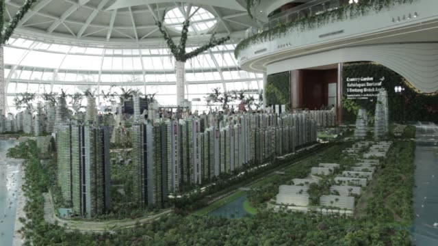 A model of the Forest City development is displayed at the Country Garden Holdings Co property showroom in Iskandar Malaysia zone of Johor Bahru...