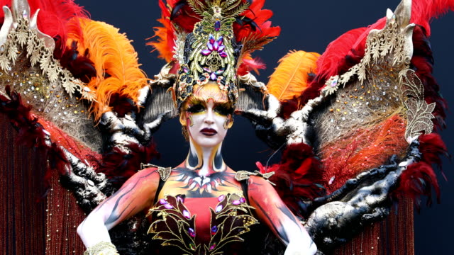 1 091 Body Paint Art Videos And Hd Footage Getty Images
