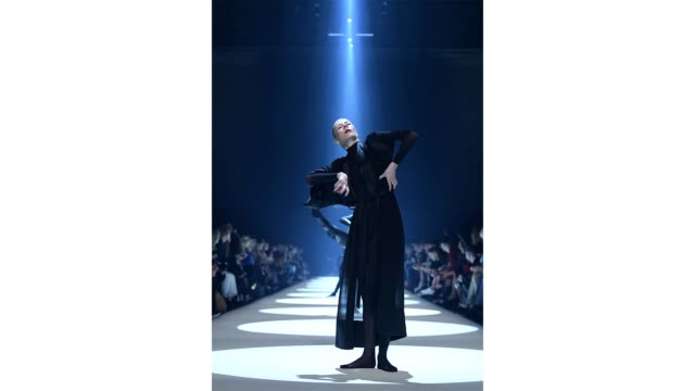 berlin germany january 15 a model performs on the runway at the dstm show during berlin fashion week autumn/winter 2020 at kraftwerk mitte on january... - gif stock videos and b-roll footage