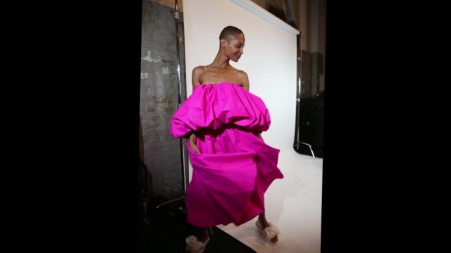 a model poses backstage ahead of the acler show at mercedesbenz fashion week resort 19 collections at carriageworks on may 16 2018 in sydney australia - backstage stock videos & royalty-free footage