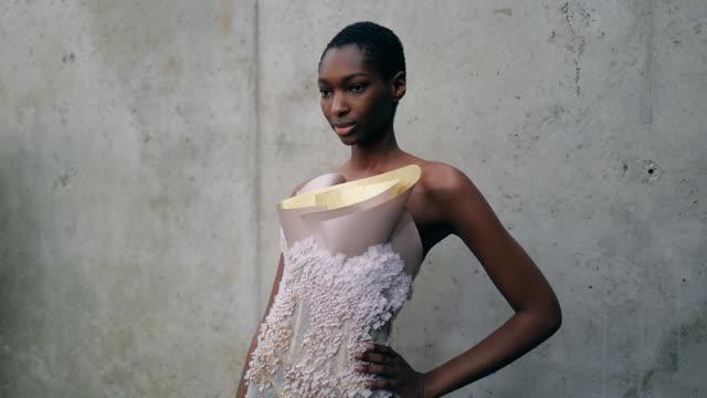FRA: Paris Fashion Week - Haute Couture Spring/Summer 2020 - Rami Al Ali Fitting
